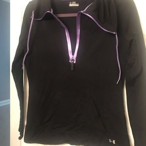 Black zip front athletic jacket